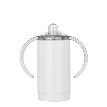 Picture of SIPPY CUP INSULATED (Straight) with Spout - 300ml WHITE