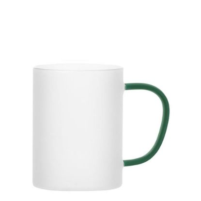 Picture of Glass Mug 12oz (Frosted) GREEN Dark handle