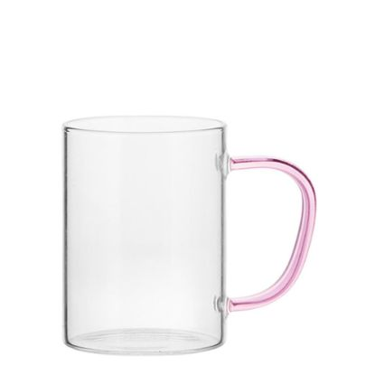 Picture of Glass Mug 12oz (Clear) PINK handle
