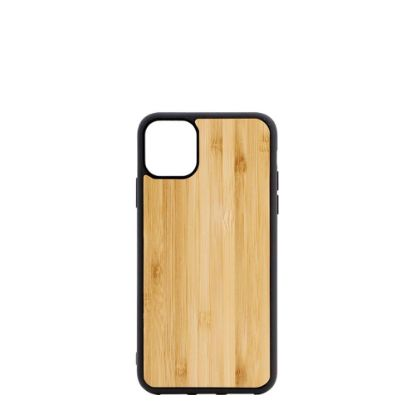 Picture of APPLE case (iPHONE 11) TPU BLACK with BAMBOO