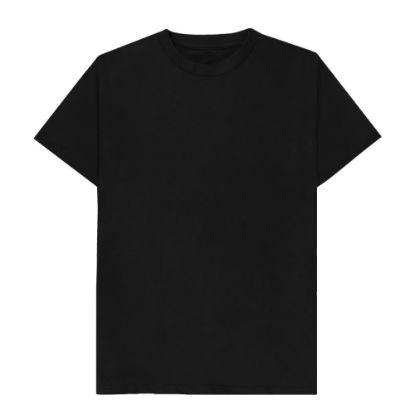 Picture of T-SHIRT cotton - BLACK (3XL) unisex