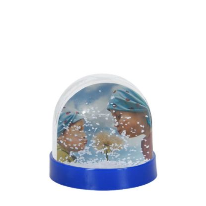Picture of Acrylic Photo Block (Globe-7x6.3cm) BLUE with White Snow