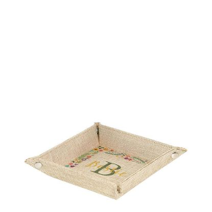 Picture of Folding Tray (Burlap) 15.2x15.2x3.7cm