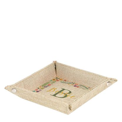 Picture of Folding Tray (Burlap) 22.9x22.9x4.7cm
