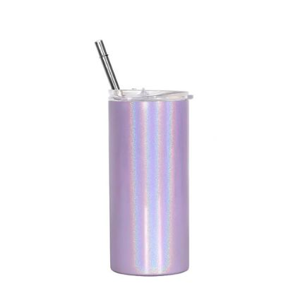 Picture of Skinny Tumbler 12oz PURPLE Rainbow Sparkle