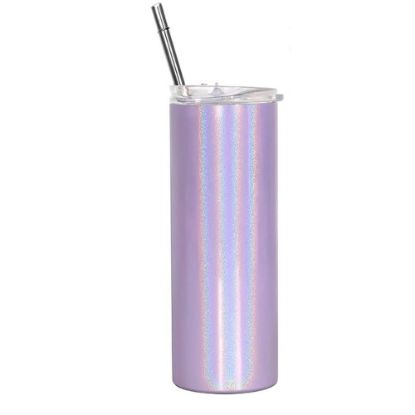 Picture of Skinny Tumbler 20oz PURPLE Rainbow sparkling