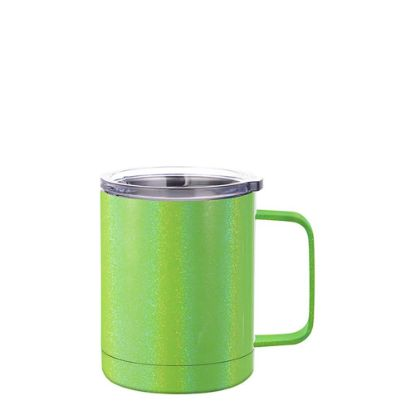 Picture of Stainless Steel Mug 10oz - GREEN sparkling with Handle