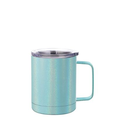 Picture of Stainless Steel Mug 10oz - BLUE sparkling with Handle