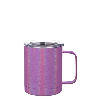 Picture of Stainless Steel Mug 10oz - PURPLE sparkling with Handle