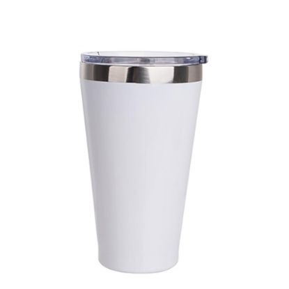 Picture of Tumbler 15oz - WHITE with lip & Clear Cup