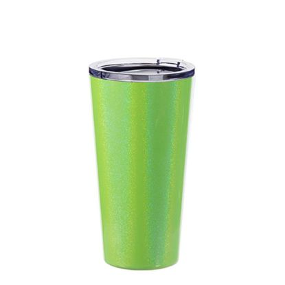 Picture of Tumbler 16oz - GREEN SPARKLING with Clear Cup
