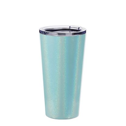 Picture of Tumbler 16oz - BLUE SPARKLING with Clear Cup