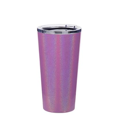 Picture of Tumbler 16oz - PURPLE SPARKLING with Clear Cup