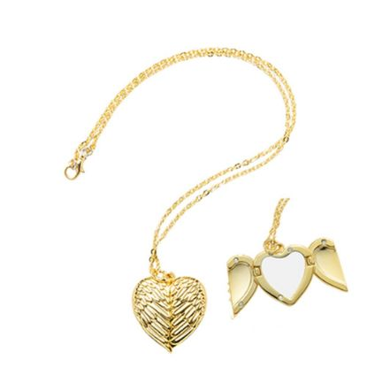 Picture of NECKLACE GOLD Heart Angel Wings - 3x3cm