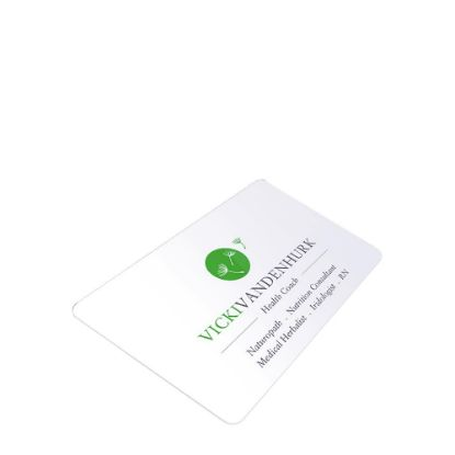 Picture of Business Cards 1sided (Aluminum 1.14mm) White Gloss 8.5x5.4cm