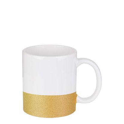 Picture of MUG 11oz (GLITTER) GOLD bottom